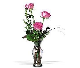 букет из роз и зелени