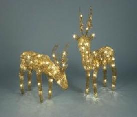 Новогоднее украшение Олень анимационный Золото