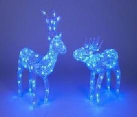 Новогоднее украшение Олень анимационный Серебро