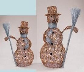 Снеговик плетеный Золото