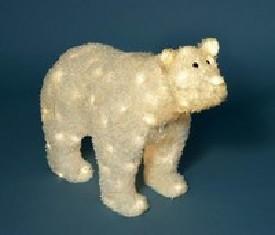 Медведь с прозрачными огнями Белый