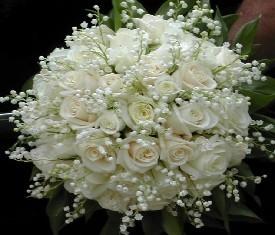 Букет из 49 Ландышей, 29 роз