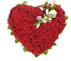 Сердце из 101 Розы Гран при