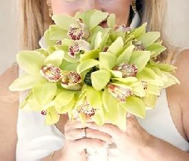 Свадебный букет из 15 Орхидей