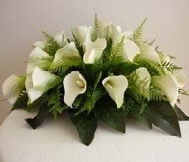 корзина из 19 цветов каллы