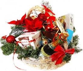 Корзина подарочная Дед мороз
