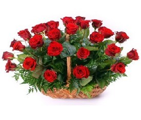 Корзина из 39 красных Роз