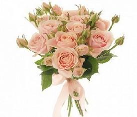 букет из 3 светло розовых кустовых роз