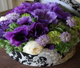 цветы анемоны в коробке