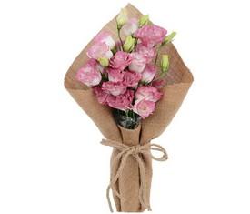 букет из розовых весенних лизиантусов