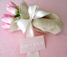 букет из 3 розовых тюльпанов