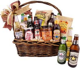 букет для мужчины из пива и еды