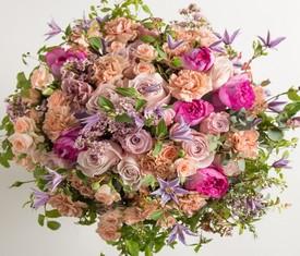 букет из пионовидных роз микс