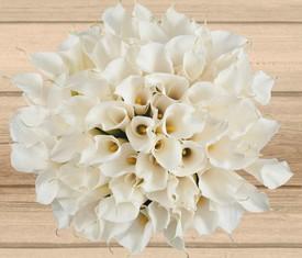 букет 101 цветок белой каллы