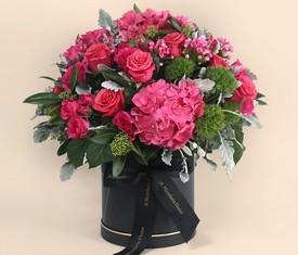 цветы гортензии розы и бовардии