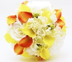 букет из цветов гортензии и калл купить