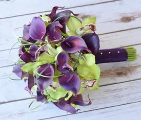 свадебный букет невесты из калл и орхидеи купить
