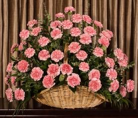 корзина из 175 цветов розовой гвоздики