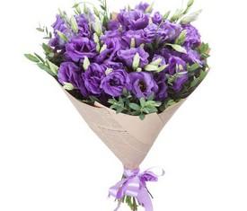 букет из 9 фиолетовой эустомы