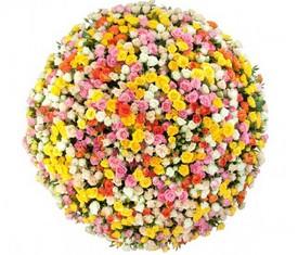 букет из 101 кремовой и розовой кустовой розы с доставкой