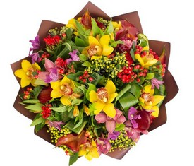 букет альстромерии и орхидеи с доставкой