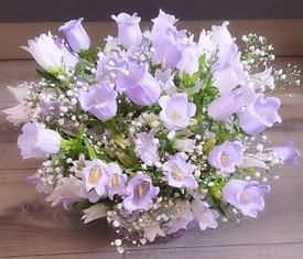 цветы колокольчики в коробке